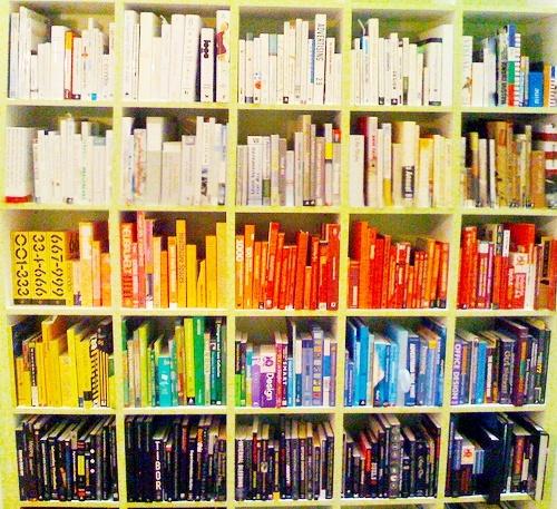 Rainbow Book Shelf Colour Pinterest