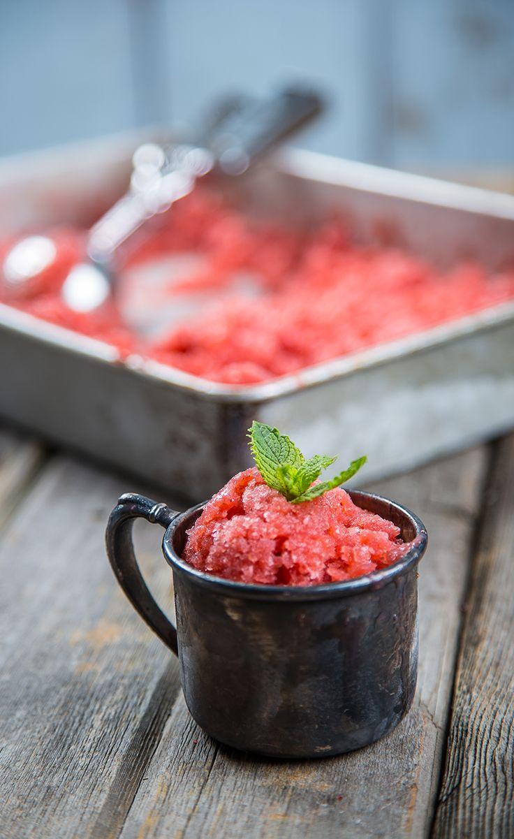 ... lemon granita lemon ice cream and raspberry granita sundaes strawberry