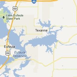 Similiar Eufaula OK Map Keywords