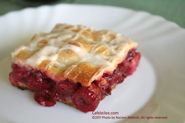 Sour Cherry Slab Pie پای نازک آلبالو | iran | Pinterest