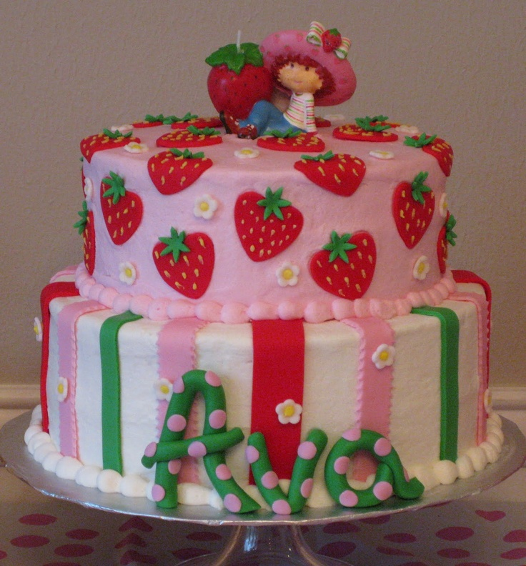 I have been looking for ideas for a strawberry shortcake cake for Lauryn's birthday. Love this.