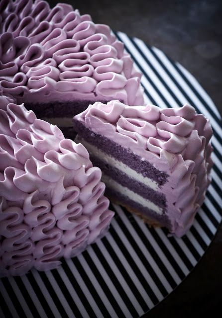 purple layer cake | Eat, Drink and be Merry | Pinterest
