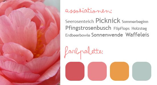 Farbpalette  Sommerhochzeit  Pinterest