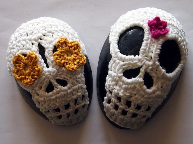 Crochet Skull : Skull crochet Tattoo Art Pinterest