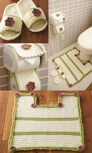 Juegos De Baño Tejidos:Free pattern-toilet rug