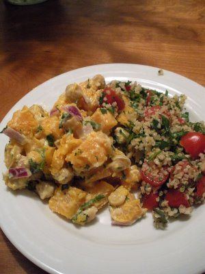 Warm Butternut Squash and Chickpea Salad and a deliiiicious Cherry ...