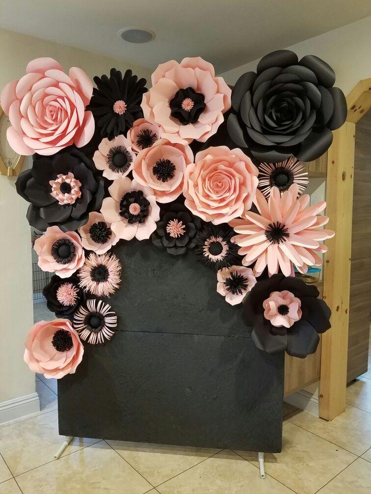 Бумажные цветы своими руками на стену и 65