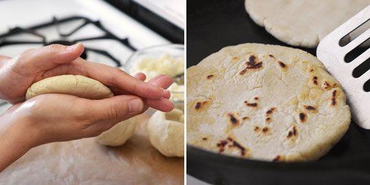Recipe: Salvadoran Pupusas con Curtido (Masa Cakes with Cabbage Slaw)