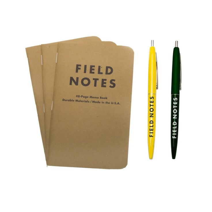 Field Notes Mixed 3-Pack with Clic Pens, $11.50 #birchbox