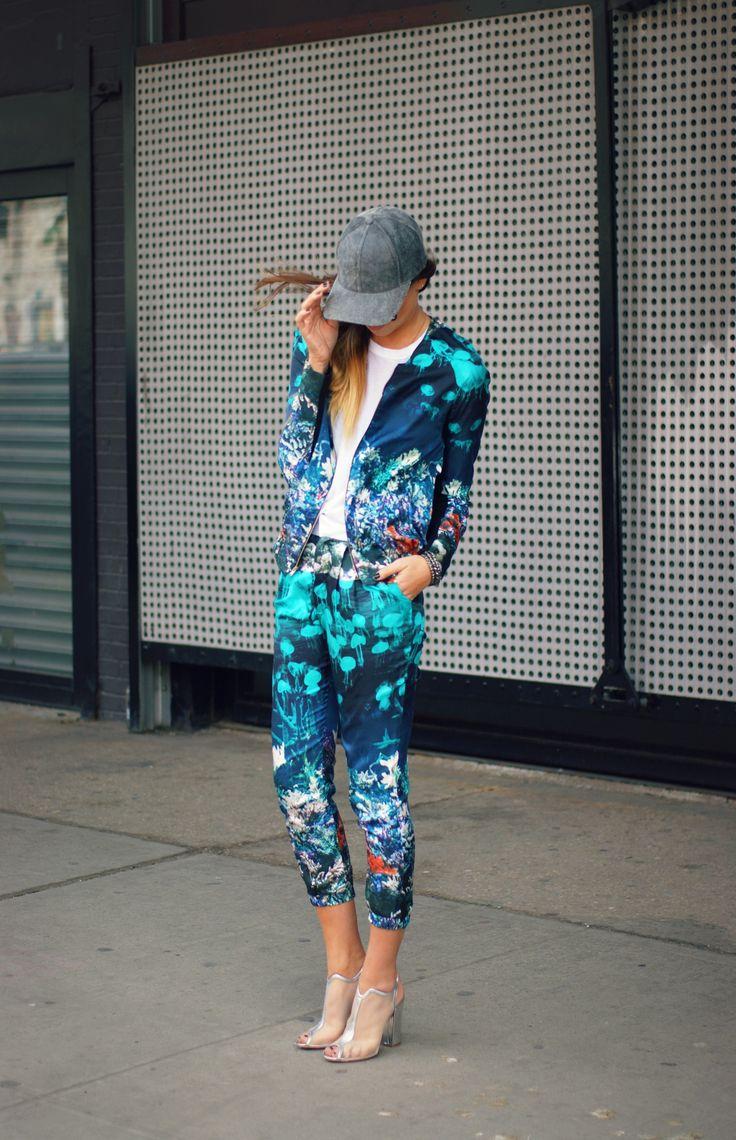 Wayne Pants & Jacket | Owen NYC Hat (in store now) – Similar | Nicholas Kirkwood Heels