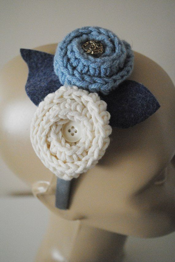 Crochet hair accessories Crochet Floral by bouquetaccessories, $18.00