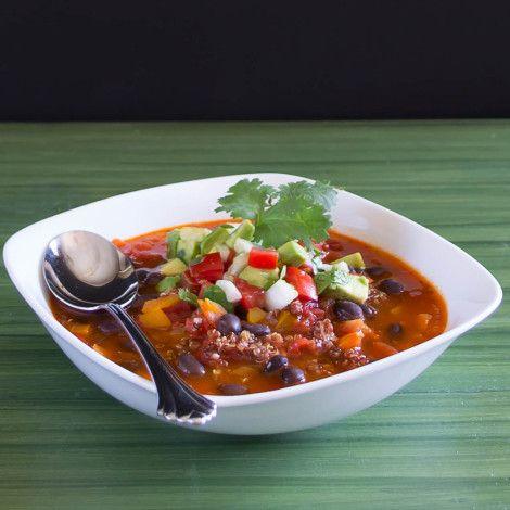 Vegetarian Black Bean Chili - with Quinoa!