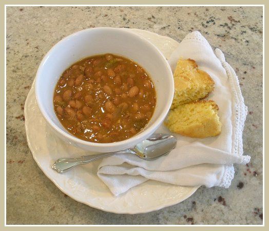 Beans and cornbread | Savory Dishes | Pinterest