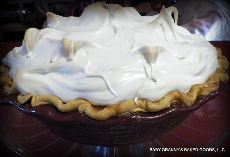 Sweet Potato Pie with Marshmallow Meringue https://www.facebook.com ...
