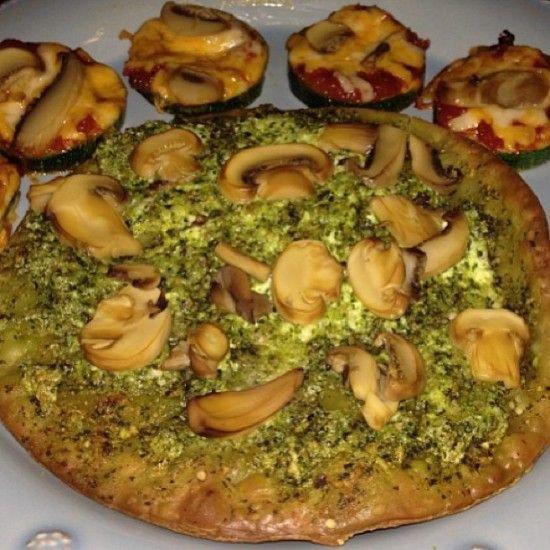 Easy Gourmet Ricotta Pesto Pizza with Zucchini Pizza Slices