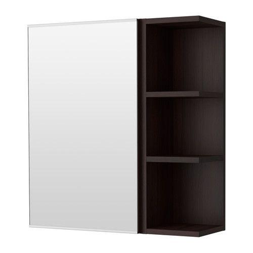 bathroom lill ngen mirror cabinet 1 door 1 end unit ikea open shelf