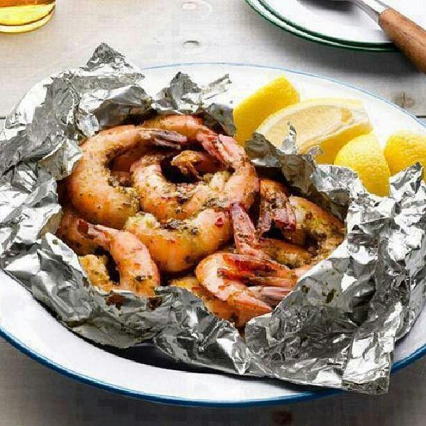 Foil Packet Shrimp | Foodies - Seafood | Pinterest