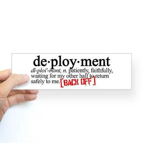 Deployment sticker