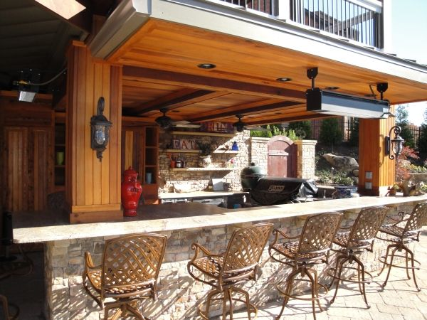 Bar and grill dreams and ideas pinterest for Outdoor grill and bar designs