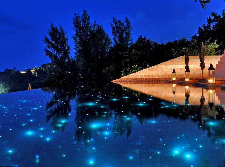 fiber optic pool lighting for the home pinterest. Black Bedroom Furniture Sets. Home Design Ideas