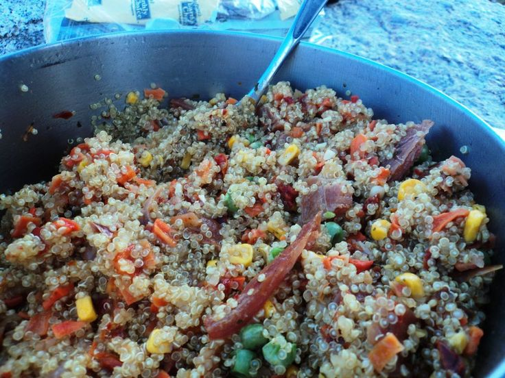 Quinoa with Veggies | The Great Outdoors {CAMPING} | Pinterest