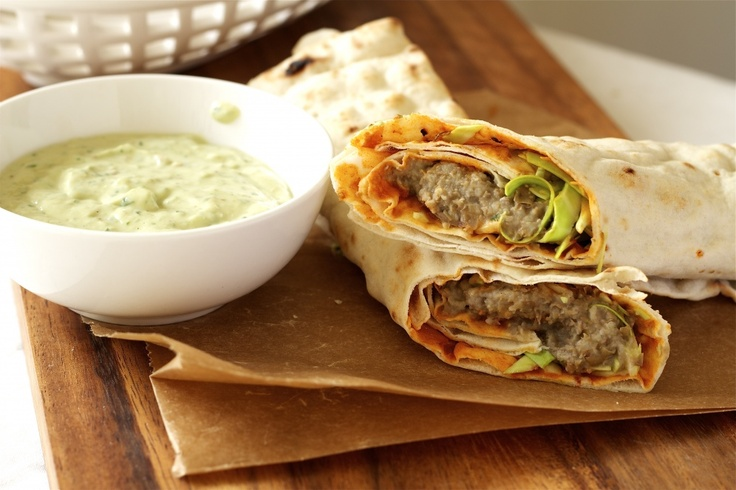 Spicy Lentil Wraps With Tahini Sauce Recipe — Dishmaps