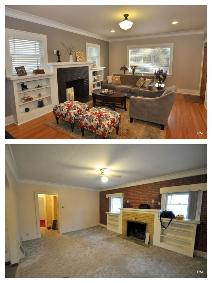 Living room before and after living room decor pinterest - Before and after living rooms ...