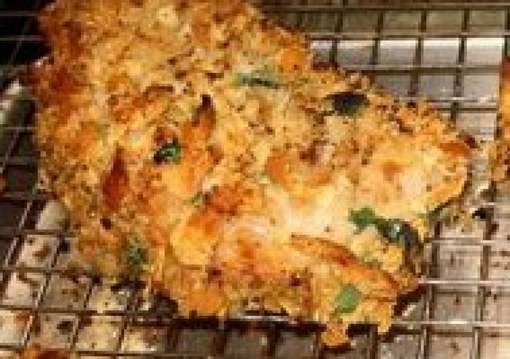 Crunchy Pork Chops/Chicken Bake Preheat oven 375 degrees.Season chops ...