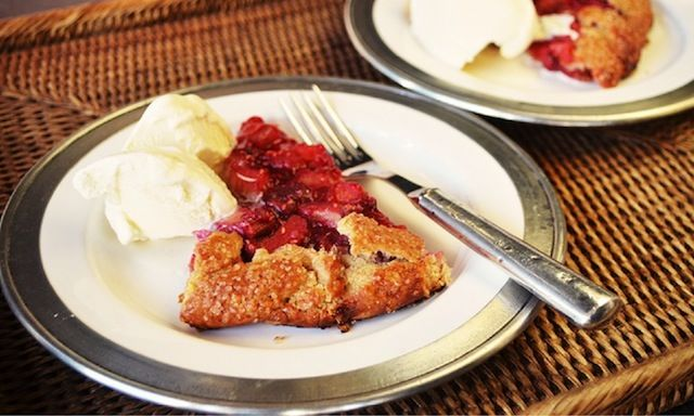 Rhubarb-Raspberry Crostata - Spring tart from THE RECIPE GRINDER