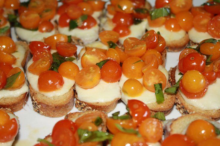 Tomato & cheese bruschetta   Tomatoes Recipes   Pinterest