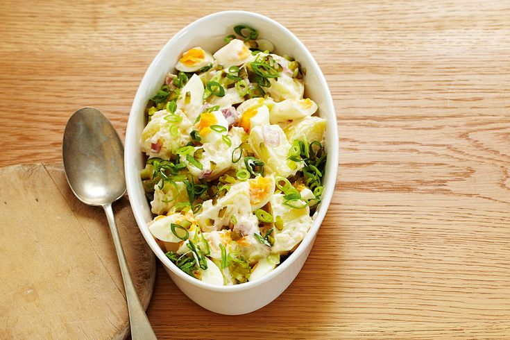 Put potatoes to good use with this classic potato salad -- a perfect ...