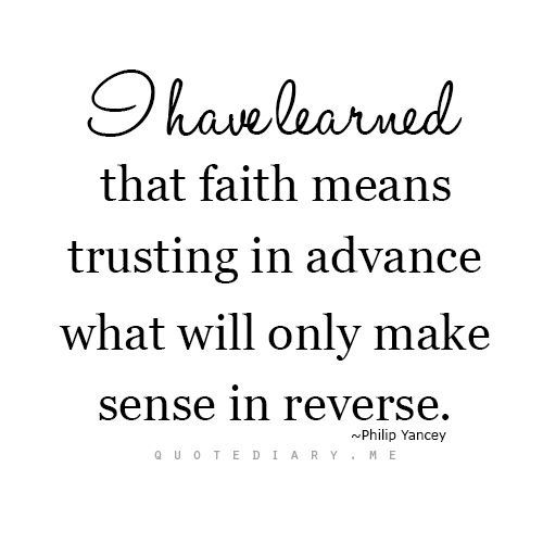 trusting gods plan faith and a life of following christ
