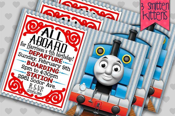 thomas the train birthday party invitations personalized