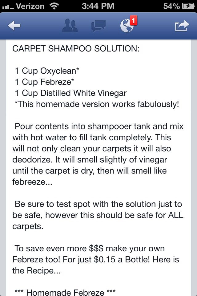 Homemade Carpet Cleaning Solution   All dolled up!   Pinterest