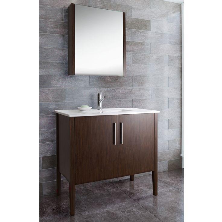 Vigo 36 inch maxine single bathroom medicine cabinet vanity for Overstock com vanities