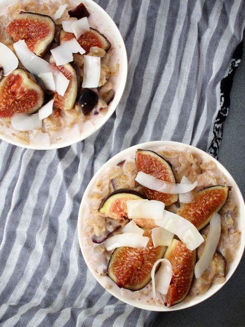 Coconut Honey Fig Oatmeal | Breakfast of (Vegan) Champions | Pinterest