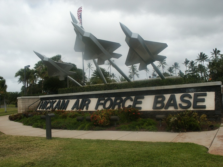 Hickam Air Force Base on Oahu, Hawaii. One of the most beautiful military bases in the US! This monument is a dedication to all fallen soldiers of the Air Force, missing or died while serving our nation.