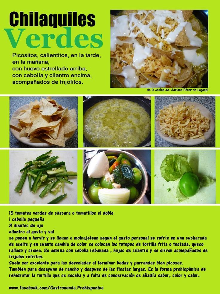 Chilaquiles verdes receta | Latin Flavors....ay ay ay | Pinterest