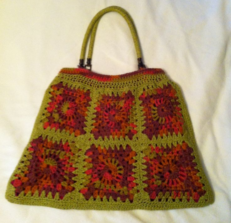 Crochet Granny Square Bag : Crochet granny square bag Inspired Needlework Pinterest