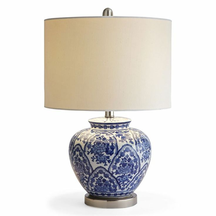 jcpenney home blue and white ceramic table lamp jcpenney 100. Black Bedroom Furniture Sets. Home Design Ideas