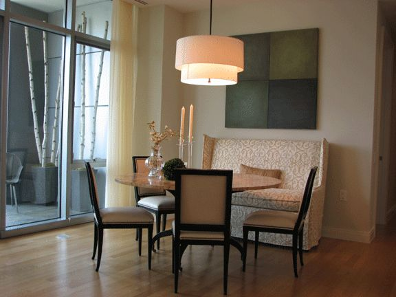 round dining table and settee private residence pinterest