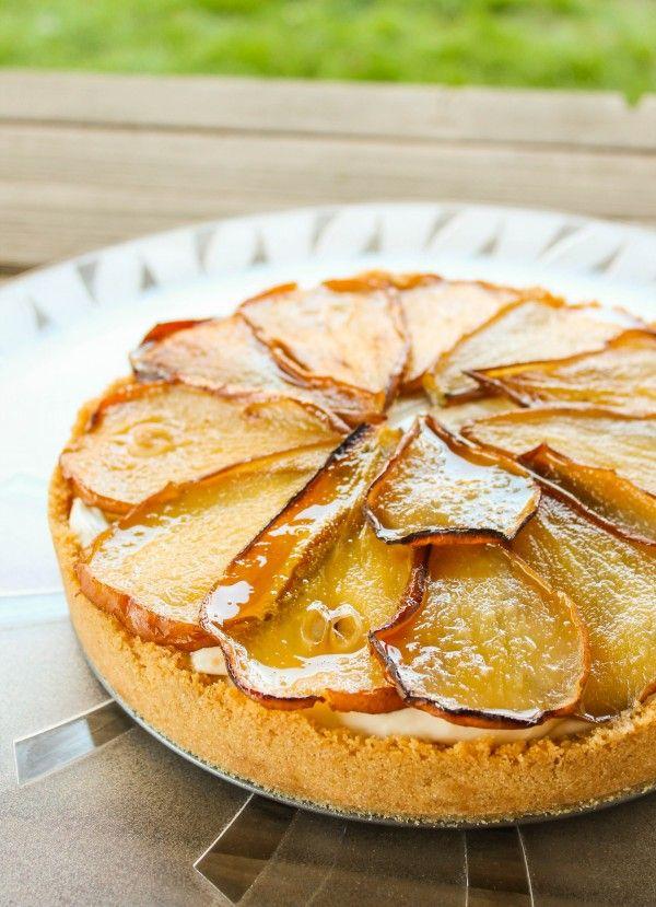 Maple Cheesecake with Roasted Pears | TheFoodCharlatan.com