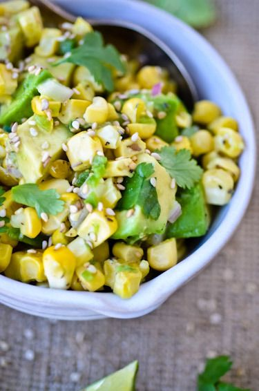 The Food Matters Project: asian corn and avocado salsa   Scaling Back