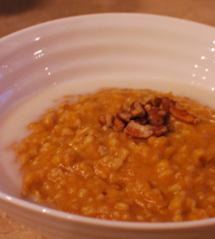 Pumpkin Spice Steel Cut Oatmeal | Oatmeal | Pinterest