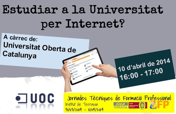 Estudiar a la Universitat per Internet? Xerrada de la UOC