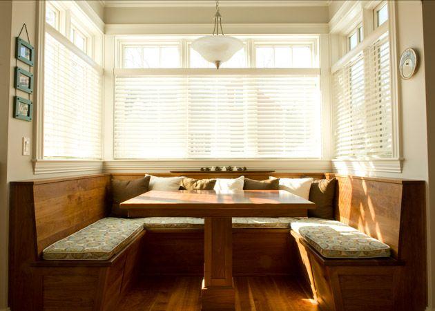 custom built cherry breakfast nook  Kitchen-tastic  Pinterest