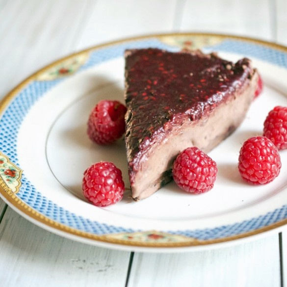 Easy Homemade Chocolate Raspberry Mousse pie - Domestic Fits