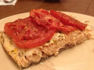 Lemon-Oregano Salmon with Roasted Tomatoes