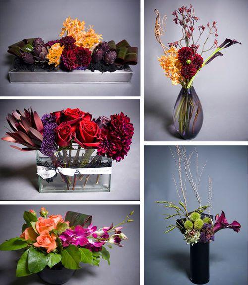 Modern fall floral arrangements flowers pinterest