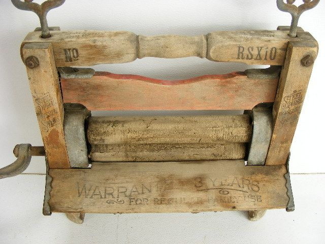 vintage wooden washing machine
